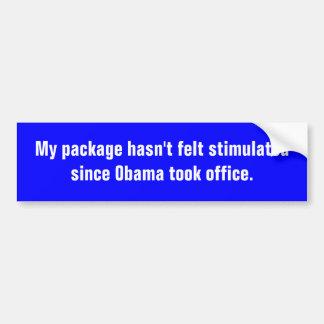 Meu pacote não sentiu estimulado desde Obama t… Adesivo Para Carro