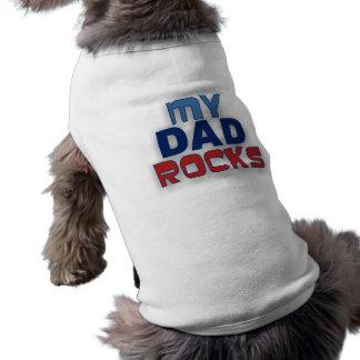Meu pai balança o t-shirt do animal de estimação camisa sem mangas para cachorro