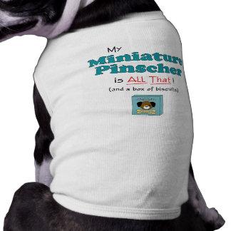 Meu Pinscher diminuto é todo o isso! Camisa Sem Mangas Para Cachorro