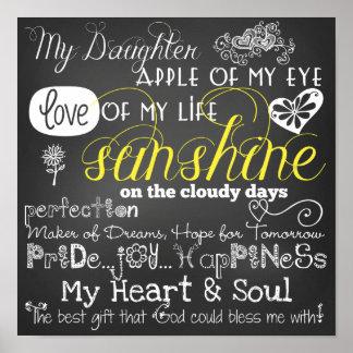 Meu poster do amor e da inspiração da filha pôster