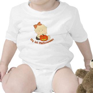 Meu primeiro bebê do Dia das Bruxas com abóbora T-shirts