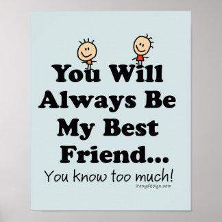 Meu provérbio engraçado do melhor amigo poster