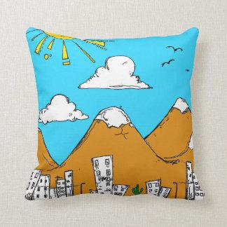Meu travesseiro pequeno da cidade almofada
