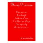 Meus cartões do Natal do marido