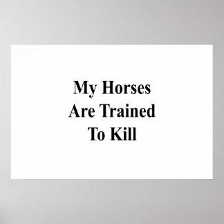 Meus cavalos são treinados para matar pôster