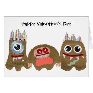 Meus monstro, feliz dia dos namorados cartão comemorativo