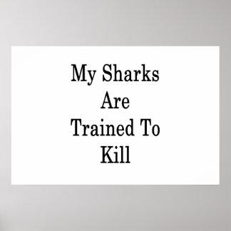 Meus tubarões são treinados para matar pôster