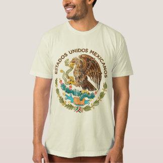 México - selo dos mexicanos dos unidos dos estados camisetas