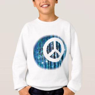 Miçanga, azul com sinal de paz camisetas