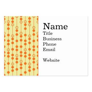 Miçanga da laranja e do Tan no teste padrão bonito Cartão De Visita Grande