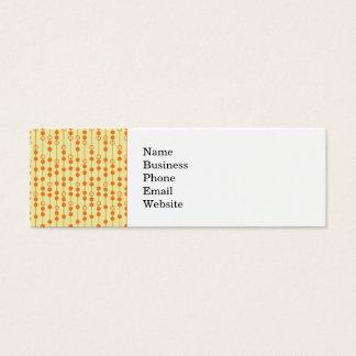 Miçanga da laranja e do Tan no teste padrão bonito Cartão De Visitas Mini