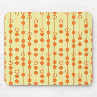 Miçanga da laranja e do Tan no teste padrão bonito Mousepad