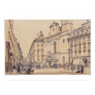 Michaelerplatz e mercado do carbono em Viena por Cartão Postal