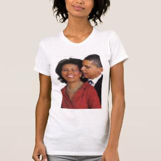Michelle e aguarela de Barack Tshirts