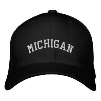 Michigan bordou o preto do boné de lãs de Flexfit