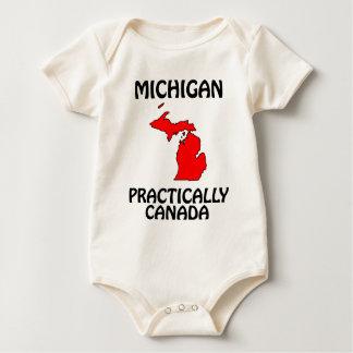 Michigan - praticamente Canadá Macacãozinho Para Bebê