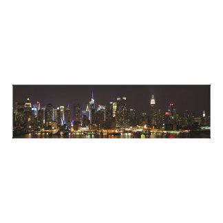 Midtown Manhattan como visto de Weehawken NJ Impressão Em Tela