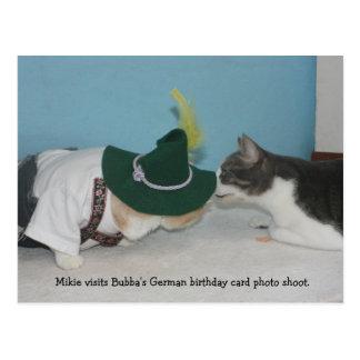 Mikie na sessão fotográfica alemão do BD Cartão Postal