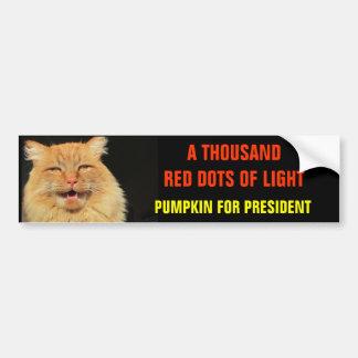 Mil pontos vermelhos da abóbora clara para o adesivo de para-choque