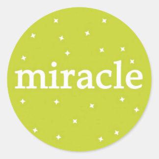 Milagre no verde adesivo