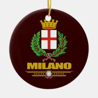 Milão (Milão) Ornamento De Cerâmica Redondo