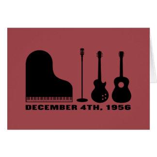 Milhão instrumentos do quarteto do dólar - preto cartão comemorativo