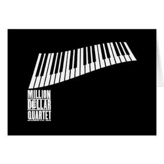 Milhão pianos do quarteto do dólar - branco cartão comemorativo