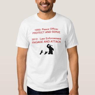 Militarização da polícia camisetas