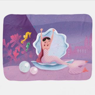 Milla a cobertura frente e verso do bebê da sereia cobertores de bebe