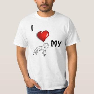 Mim <3 meu Pitbull Camiseta