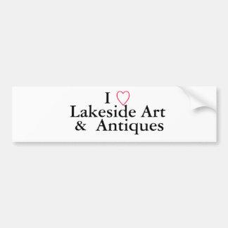 Mim, 9, arte da beira do lago, &, antiguidades adesivo para carro