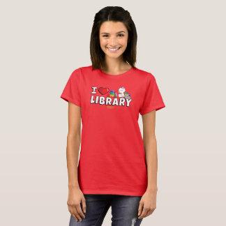 Mim a camisa das mulheres da biblioteca do coração