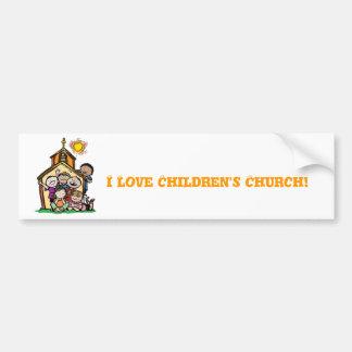 Mim a igreja de crianças de amor! adesivo para carro
