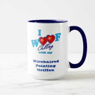 Mim apontar Wirehaired Griffon do Woof Caneca
