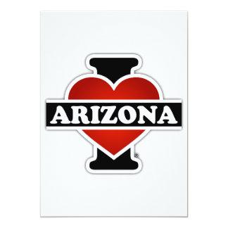 Mim arizona do coração convite 12.7 x 17.78cm