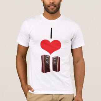 Mim auto-falante do coração (amor) t-shirts
