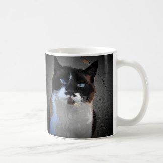 Mim bigode você para alimentar-me caneca de café