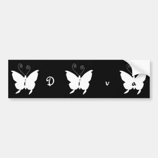 mim borboleta da diva adesivo para carro