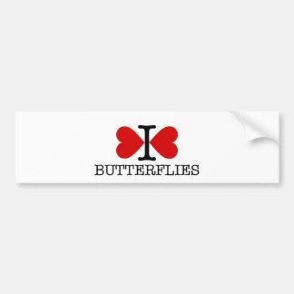 Mim borboletas do coração adesivo para carro