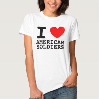 Mim camisa americana dos soldados do coração t-shirts