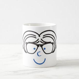 """""""MIM caneca de café da menina do nerd de C U"""""""