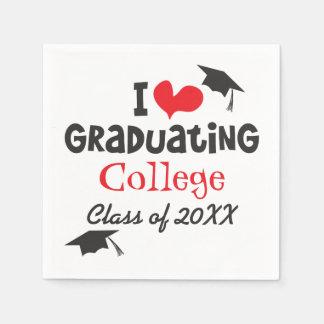 Mim classe de graduação da faculdade do coração de guardanapos de papel