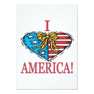 Mim coração América Convite 12.7 X 17.78cm