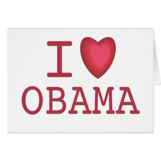 Mim coração Barack Obama Cartao