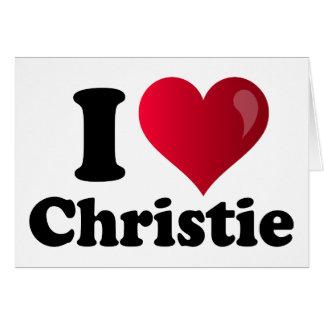 Mim coração Chris Christie Cartão Comemorativo