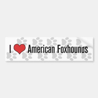 Mim (coração) Foxhounds americanos Adesivo Para Carro