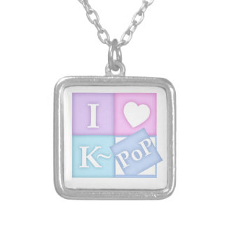 Mim coração K~Pop Colar Com Pendente Quadrado
