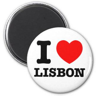 Mim coração Lisboa Ímã Redondo 5.08cm