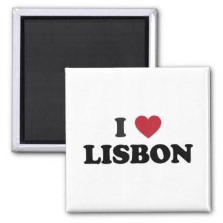 Mim coração Lisboa Portugal Ímã Quadrado