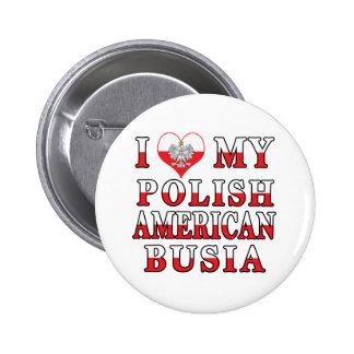 Mim coração meu americano polonês Busia Bóton Redondo 5.08cm